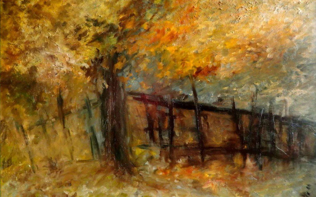 Podzimní zátiší s plotem